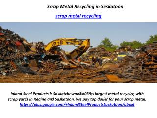 Scrap Metal Recycling in Saskatoon