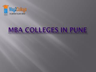 List of top MBA Colleges in Pune | MBA Courses in Pune –way2college.com