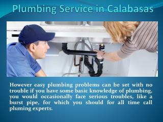 Plumbing Service in Calabasas