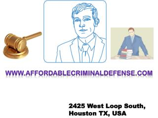 Defense attorney Houston, TX