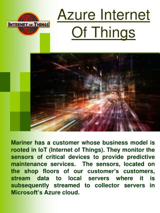 Microsoft Internet Of Things