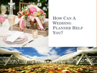 How Can a Wedding Planner Help You