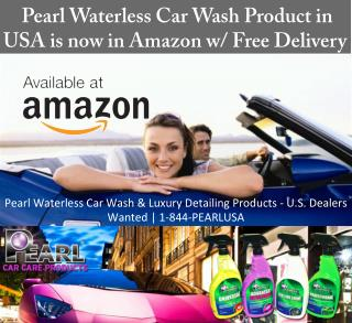 Pearl Waterless Car Wash Product in USA is Now in Amazon W_ Free Delivery