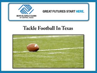 Tackle Football in Texas
