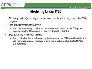 Modeling Under PSD