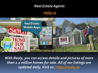 Realy Moblie App Search New Homes