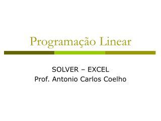 Programa  o Linear