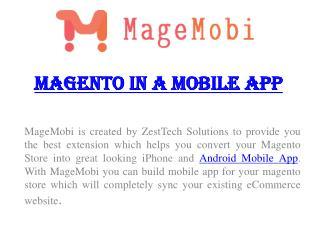 MageMobi – Magento In A Mobile App