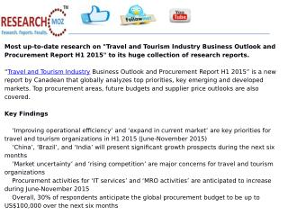 Travel and Tourism Industry Business Outlook and Procurement Report H1 2015