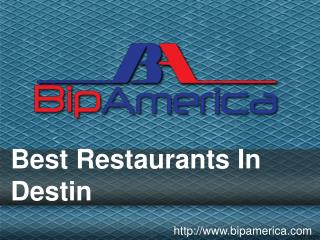Best Restaurants In Destin