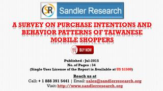 A Survey on Purchase Intentions and Behavior Patterns of Taiwanese Mobile Shoppers Market Growth Analysis by End-user
