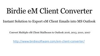 eM Client Converter