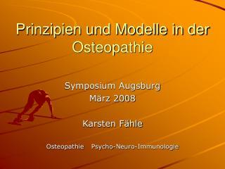 Prinzipien und Modelle in der Osteopathie