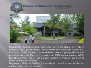 The Bogomolets is the Topmost Medical University in Ukraine