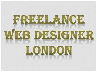 Freelance Web Designer London