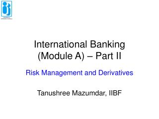 International Banking  Module A   Part II