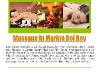 Massage in Marina Del Rey