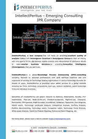 IntellectPeritus - Emerging Consulting IPR Company