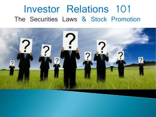 Invester Relations 101