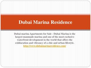 Dubai Marina Apartments for Sale - Dubai Marina Properties