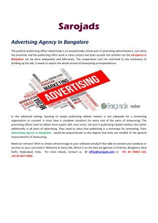 ad agency in Hyderabad.