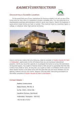 Villas for Sale in Hyderabad.