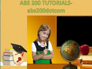 ABS 200 ASH Tutorials / abs200dotcom