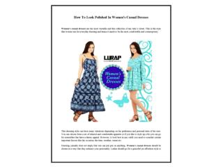 How To Look Polished In Women's Casual Dresses
