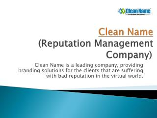 Reputation Management Company