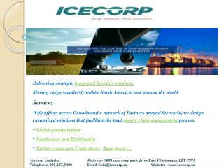 ICECORP Logistics- Global Logistics