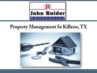 Property Management In Killeen, TX