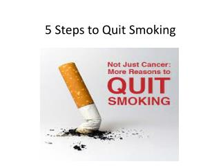 5 easy steps to quit smoking