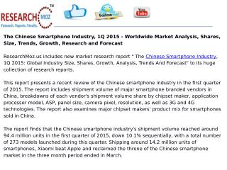 The Chinese Smartphone Industry, 1Q 2015