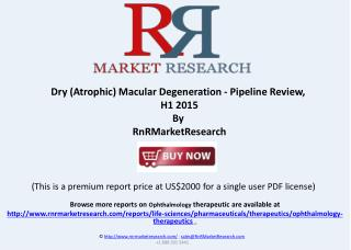 Dry Macular Degeneration Pipeline Review, H1 2015