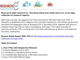 Unveiling China Free Trade Zone 2.0