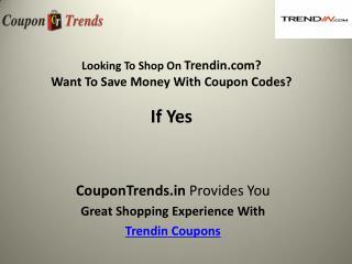 Trendin coupons