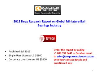 Global Miniature Ball Bearing Market Research Report 2015