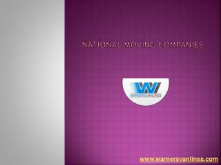 National Moving Companies - Warner's Van Lines
