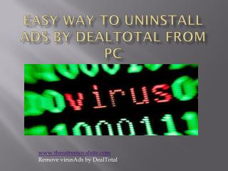 How to Remove/Block Ads by DealTotal from PC