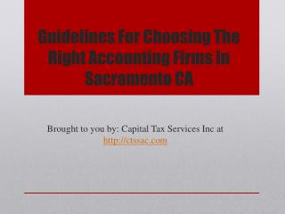 Guidelines For Choosing The Right Accounting Firms In Sacramento CA