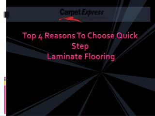 Top 4 Reasons To Choose Quick Step Laminate Flooring