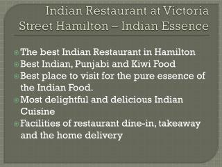 Indian Restaurant Victoria Street Hamilton