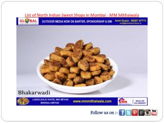 List of North Indian Sweet Shops in Mumbai - MM Mithaiwala