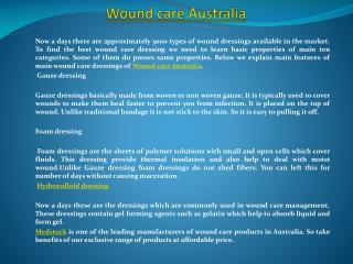 Wound care Australia