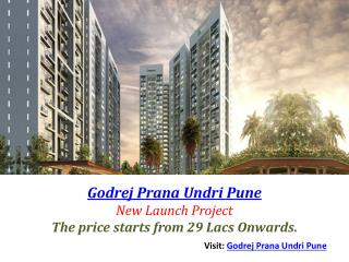 Godrej Prana Undri Pune With 3 BHK