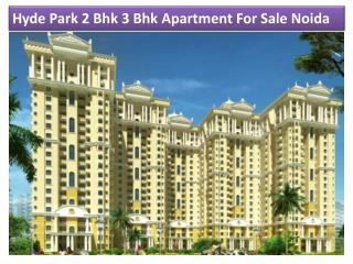 Hyde Park 2 Bhk 3 Bhk Apartment For Sale In Noida