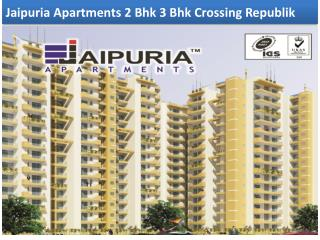 Jaipuria Apartments 2 Bhk 3 Bhk Crossing Republik