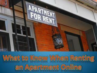 What to Know When Renting an Apartment Online