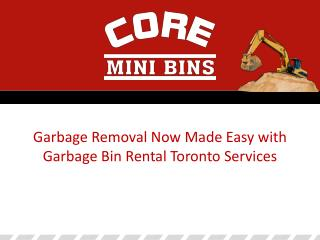 Garbage Bin Rental Toronto Services