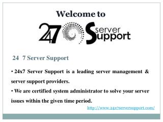 Server Support
